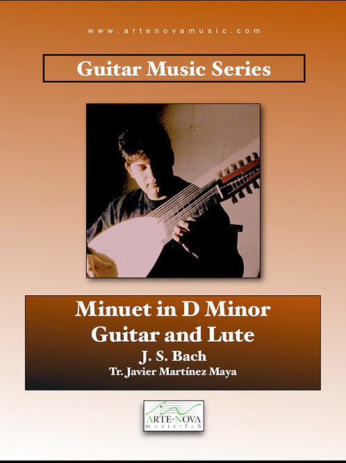 Minuet in D minor, for Guitar or Lute.