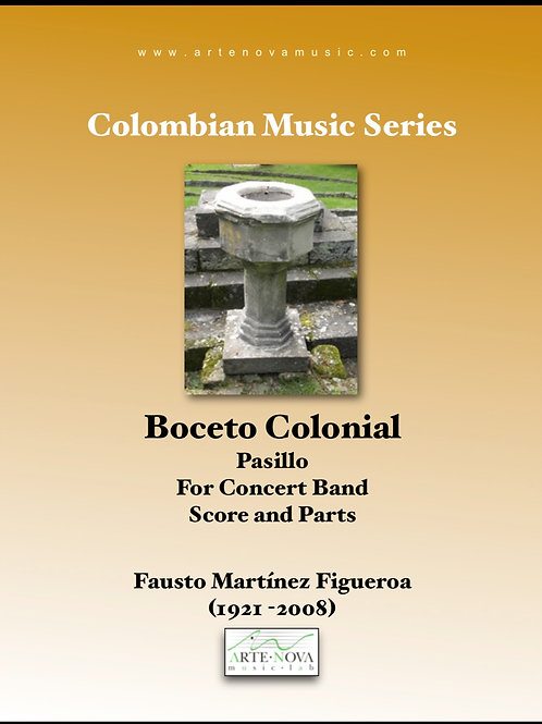 Boceto Colonial.Pasillo for Concert Band.