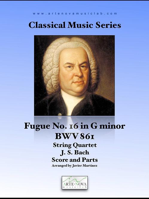 Fugue No. 16 in G minor BWV 861 for String Quartet
