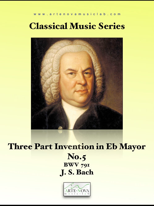 Three Part Invention in Eb Mayor No. 5 BWV 791