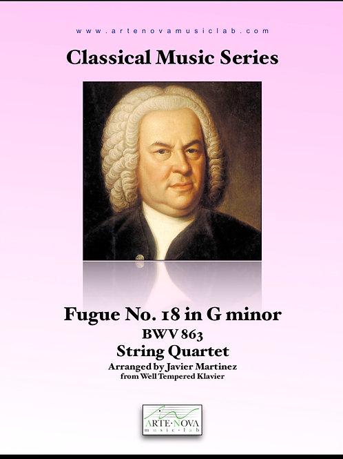 Fugue No. 18 in G minor BWV 863 for String Quartet.