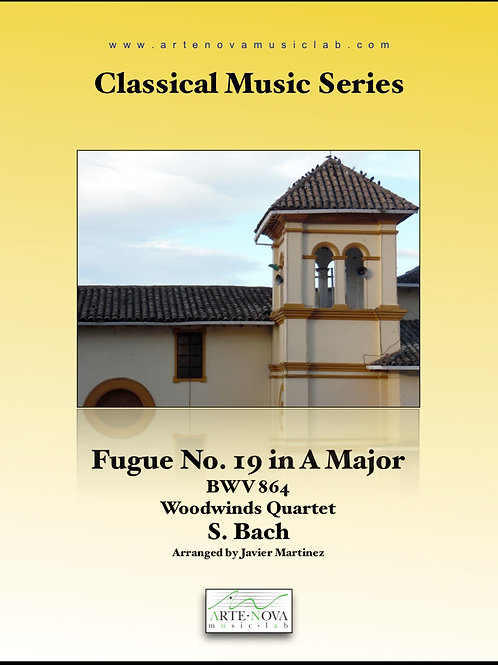 Fugue No. 19 in A Major BWV 864 for Woodwinds Quartet.