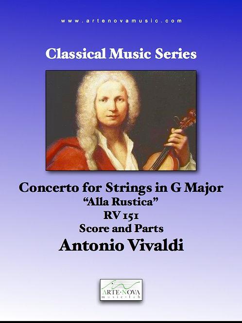 "Concerto for Strings in G Major ""Alla Rustica"" RV 151."