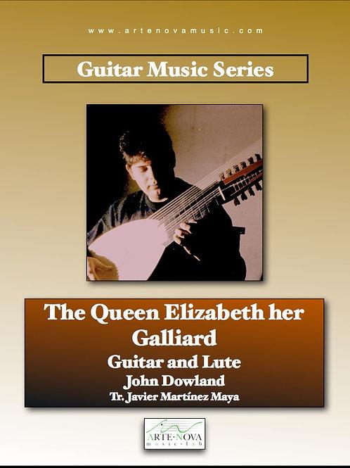 Queen Elizabeth her Galliard for Guitar or Lute.