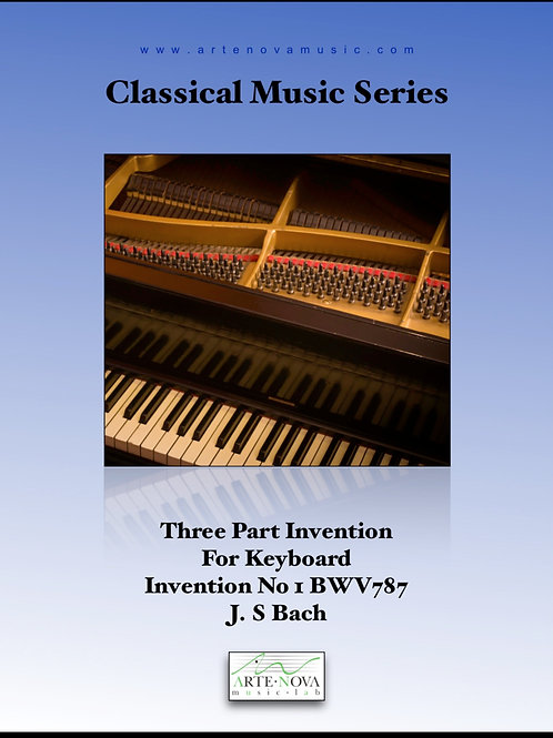 Three Part Invention No. 1 for Keyboard BWV 787