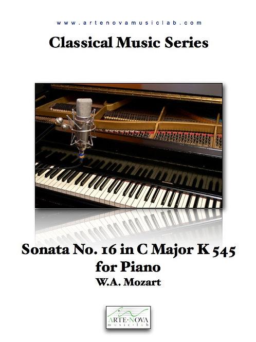 Sonata No. 16 in C Major K 545 for Piano.
