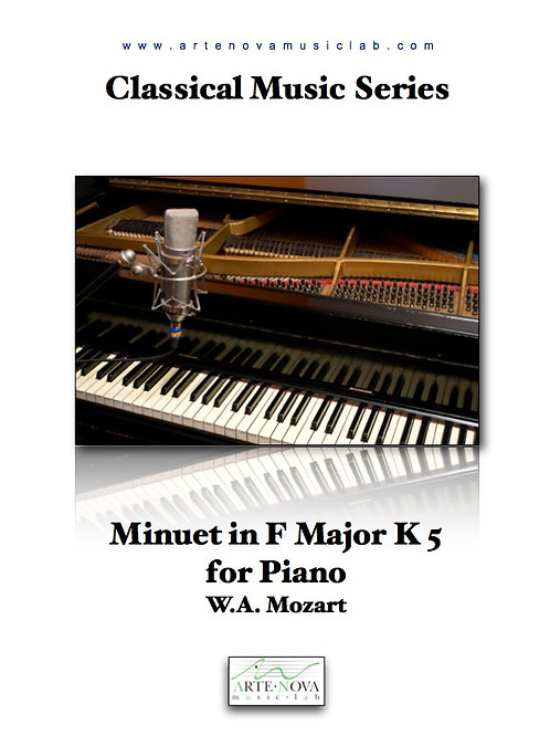 Minuet in F Major K 5 for Piano.