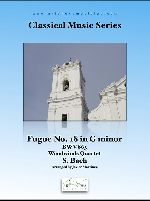 Fugue No. 18 in G minor BWV 863 for Woodwinds Quartet.