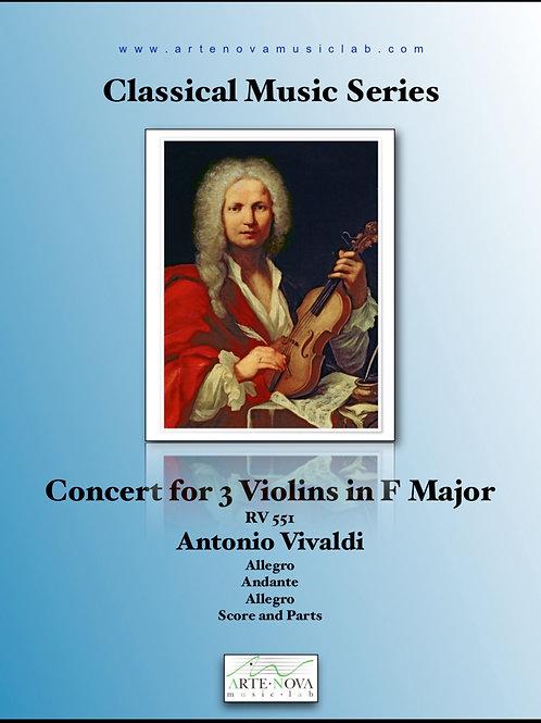 Concert for 3 Violins in F Major RV 551.