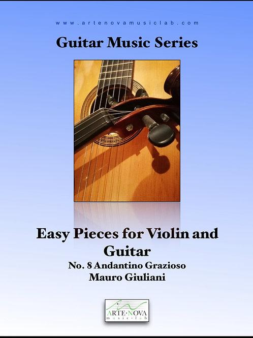 Andantino Grazioso No. 8 for Guitar and Violin.