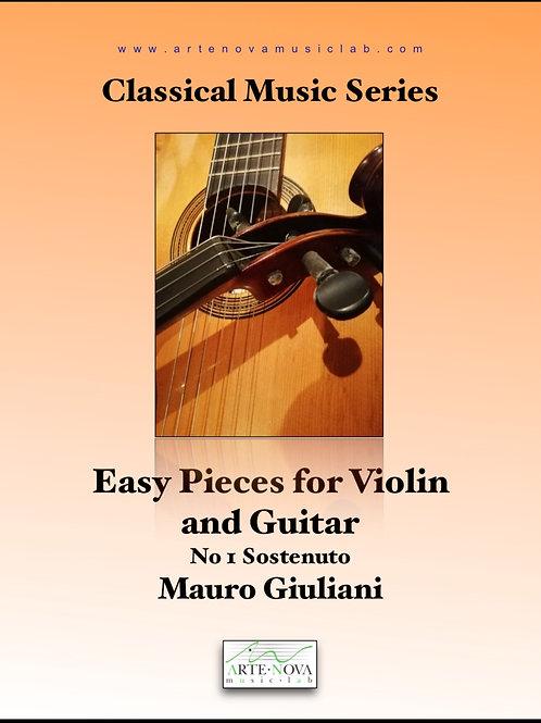 Sostenuto No.1 for Guitar and Violin.