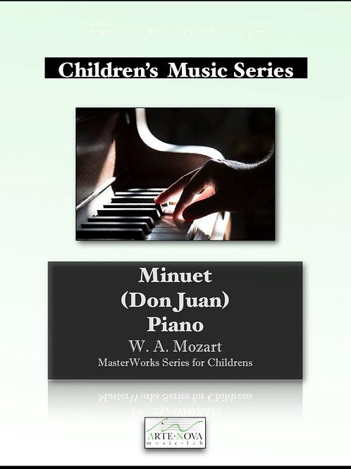 Minuet (Don Juan) for Piano.