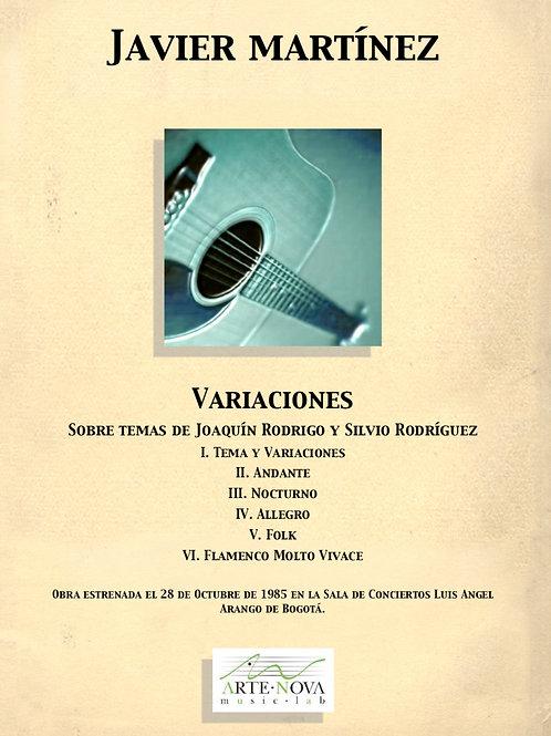 Variaciones (Sobre temas de J. Rodrigo y Silvio Rodríguez) for Guitar.