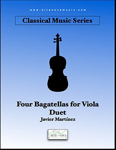 Four Bagatellas for Viola Duet.