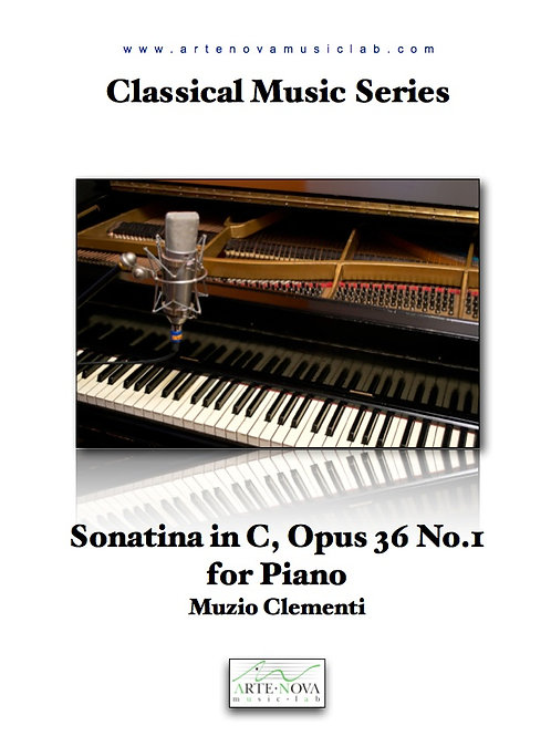 Sonatina in C, Opus 36 No.1 for Piano.