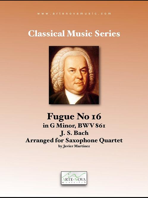 Fugue No. 16 in G minor  BWV 816 for Saxophone Quartet