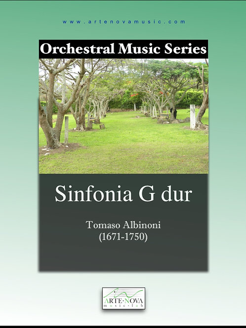 Sinfonia G dur for Orchestra.