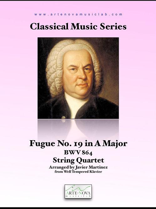 Fugue No. 19 in A Major BWV 864 for String Quartet.