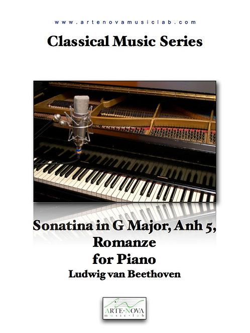 Sonatina in G Major, Anh 5, Romanze for Piano.