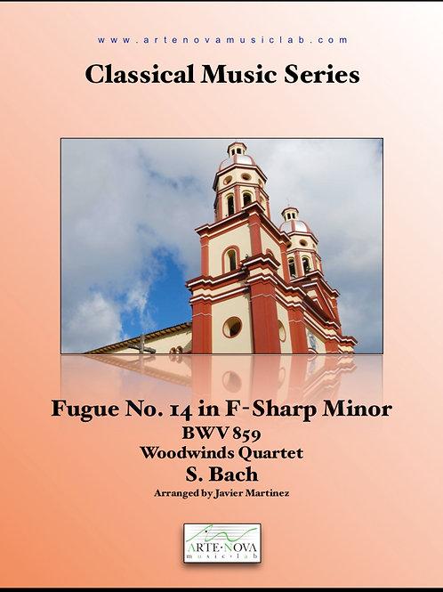 Fugue No. 14 in F-Sharp Minor BWV 859 for Woodwinds Quartet.