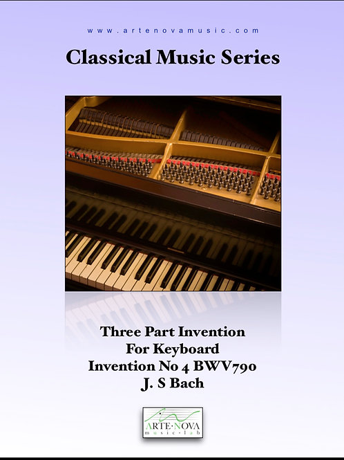 Three Part Invention For Keyboard No 4 BWV 790