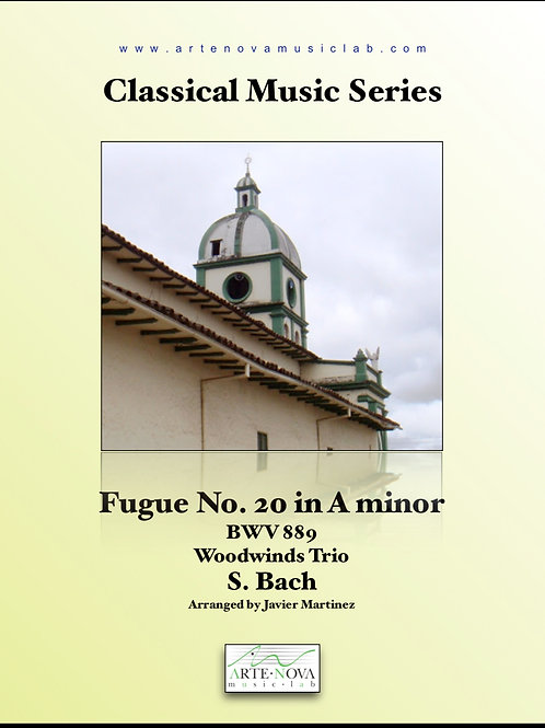 Fugue No. 20 in A minor BWV 889  for Woodwinds Trio.