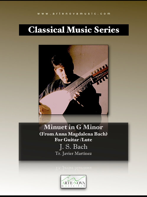 Minuet in G minor for Guitar or Lute.