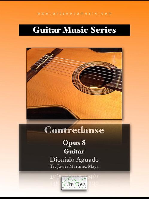 Contredanse opus 8 for Guitar.