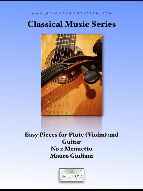 Menuetto No. 2 for Guitar and Violin.