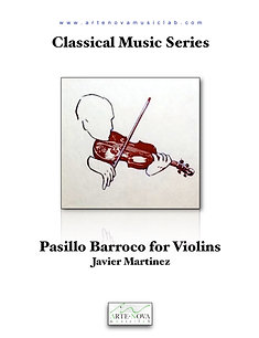 Pasillo Barroco for Violin Duet.