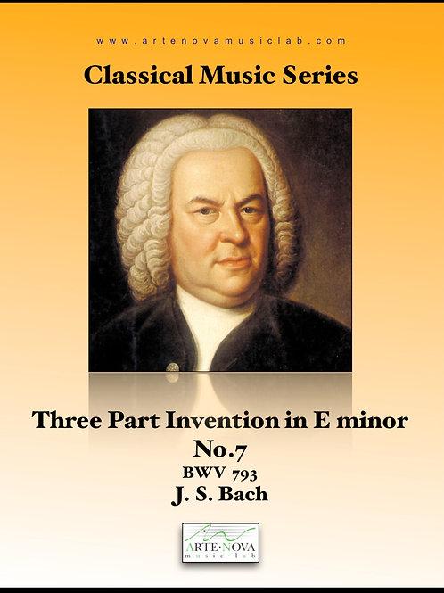 Three Part Invention in E minor No. 7 BWV 793