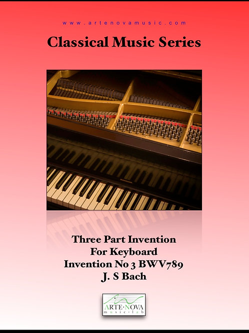 Three Part Invention For Keyboard No 3 BWV 789