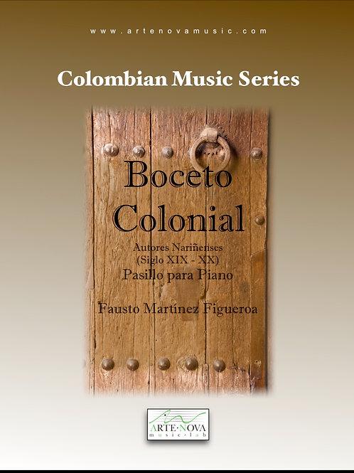 Boceto Colonial. Pasillo for Piano.