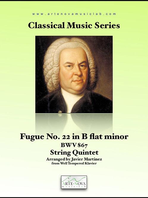 Fugue No. 22 in B flat minor BWV 867 for String Quintet.