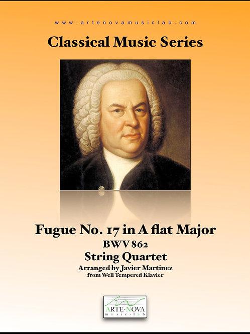 Fugue No. 17 in A flat Major  BWV 862 for String Quartet