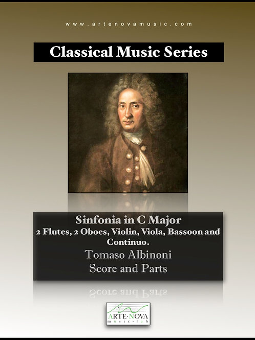 Sinfonia in C Major for 2 Flutes, 2 Oboes, Violin, Viola, Bassoon and Continuo.