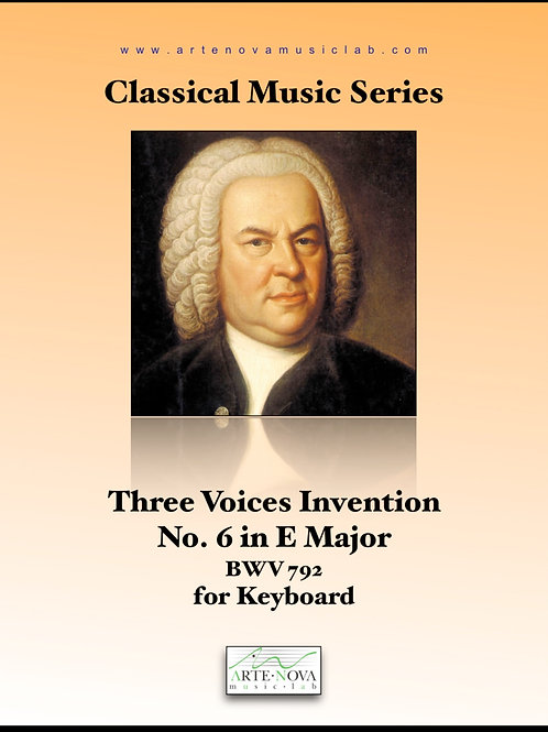 Three Part Invention for Keyboard No. 6 BWV 792