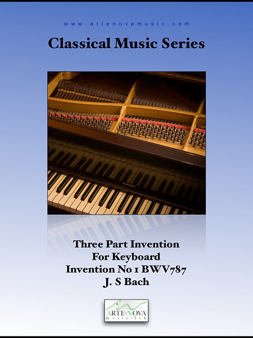 Three Part Invention For Keyboard  Invention No. 1 BWV 787.