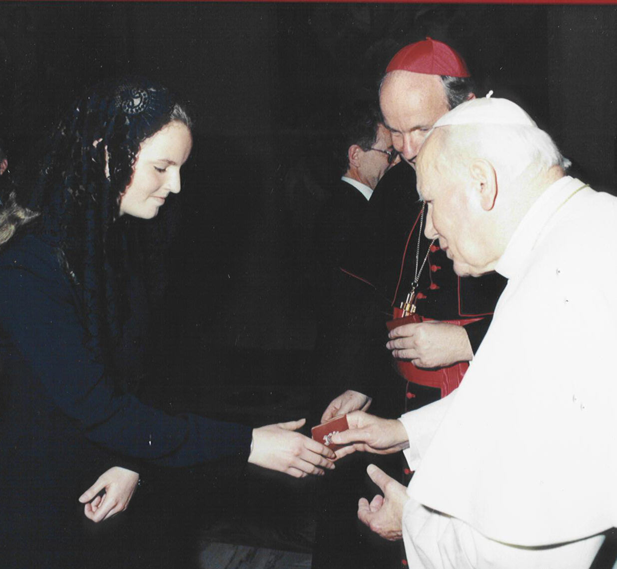 Filippa and Pope John Paul II