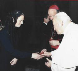 Filippa and Pope John Paul II