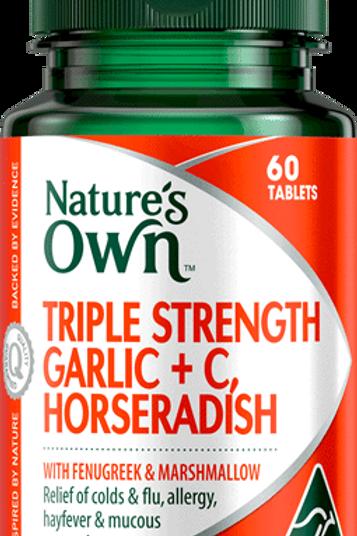 Triple Strength Garlic Plus C, Horseradish, Fenugreek & Marshmallow 200 Tablets