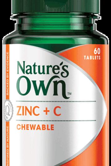 Zinc Plus C, Chewable