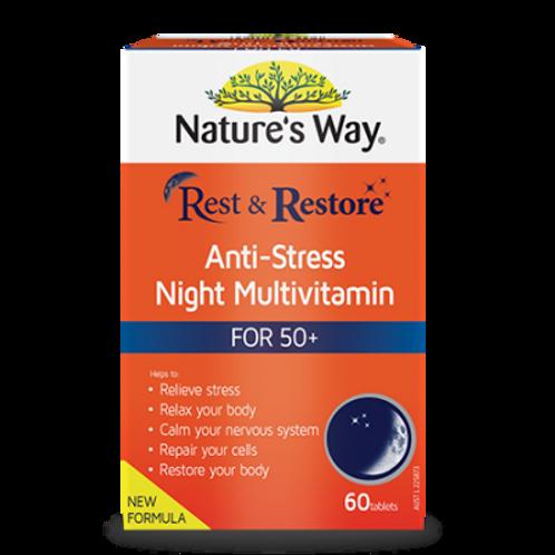 REST & RESTORE NIGHT MULTIVITAMIN 50+
