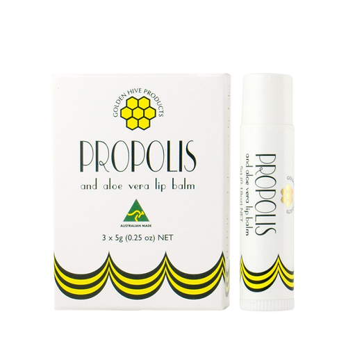 Propolis and Aloe Vera Lip Balm 3x5g