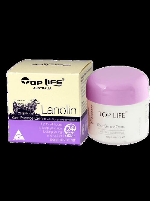 Lanolin Cream Plus Rose and Placenta Extracts 100g