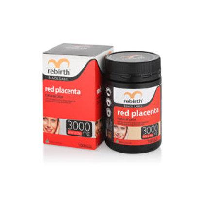 REBIRTH BLACK LABEL RED PLACENTA NATURAL PLUS 3000MG 100 CAPSULES (RK01)