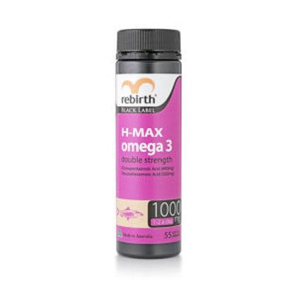 REBIRTH BLACK LABEL HIGH STRENGTH H-MAX OMEGA 3 (RK04) 55 CAPSULES