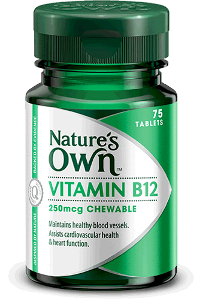 Vitamin B12 250mcg, Chewable