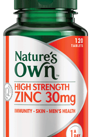 High Strength Zinc 30mg