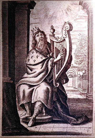 King David playing Ancient Harp